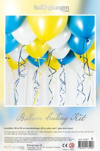 Balloon Ceiling Kit - Gul & Blå
