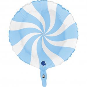 Swirly Vit-Matte Blå 45 cm