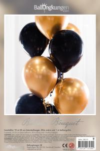 Balloon Bouquet - Black & Gold