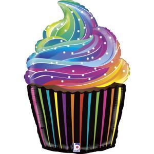 Folieballong - Rainbow Cupcake 69 cm