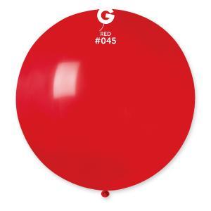 Latexballong - Röd Rund 80 cm