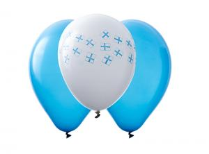 Latexballonger med finska flaggor
