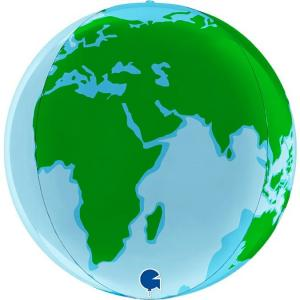 Folieballong - Globe Earth 38 cm