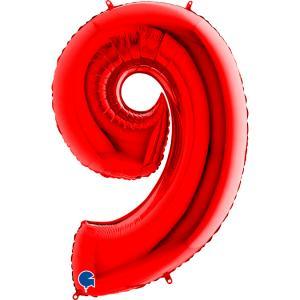 Sifferballong Nio Röd