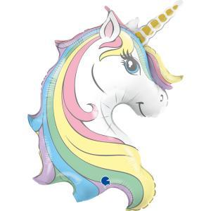 Folieballong - Macaron Unicorn Head
