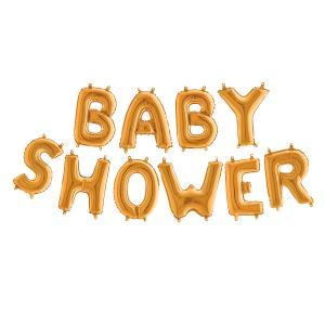 Ballonggirlang - BABY SHOWER Guld 35 cm