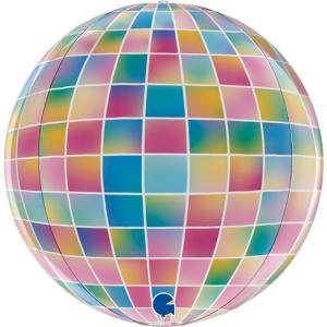 Folieballong - Globe Strobo 38 cm