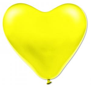 Gula hjärteballonger