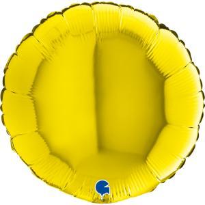 Rund Gul folieballong