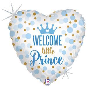 Folieballong - Welcome Little Prince 45 cm