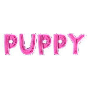 Ballonggirlang - PUPPY Rosa 100 cm