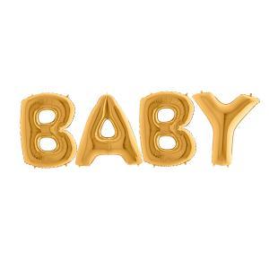 Ballonggirlang - BABY Guld 100 cm