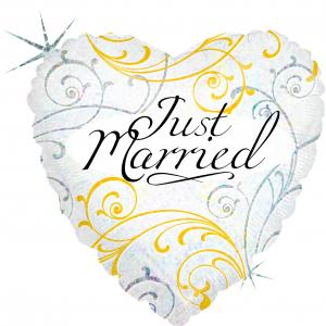 Folieballong - Just Married Filigree 45 cm