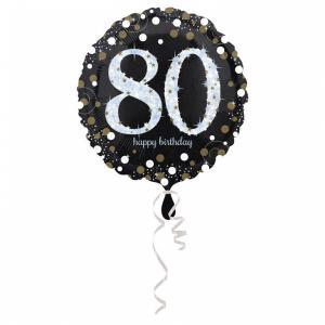 Folieballong - Sparkling Birthday 80