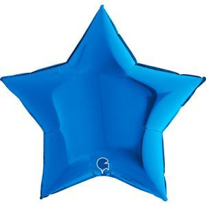 Folieballong - Stjärna Blå 91 cm
