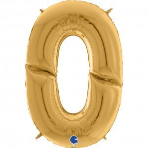 Ballongsiffra Gigant - Noll Guld 164 cm