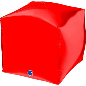 Folieballong - Square Röd 38 cm