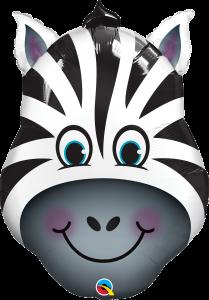 Folieballong - Zebra-huvud 81 cm