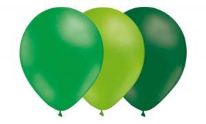 Latexballonger Kombo - Grön-Limegrön-Mörkgrön 15-pack