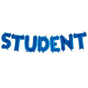 Ballonggirlang - STUDENT Blå 35 cm