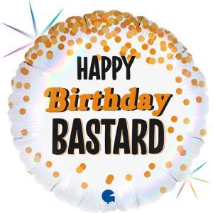 Folieballong - Happy Bday Bastard 45 cm