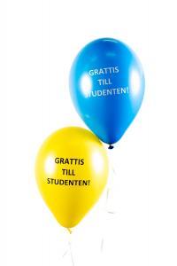 Latexballonger - Grattis till Studenten! 25-pack