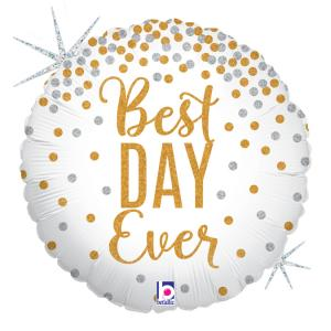 Folieballong - Best Day Ever 45 cm