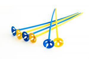 Ballongpinnar - Gula & Blå 10-pack