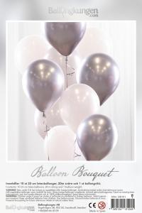 Balloon Bouquet - Silver/Chrome