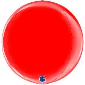 Folieballong - Globe Röd