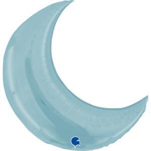 Folieballong - Moon Pastel Blue 107 cm