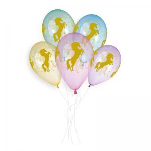 Latexballonger Premium - Golden Unicorn 33 cm 5-pack
