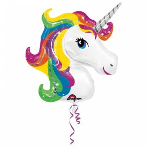 Folieballong - Unicorn Rainbow Shape