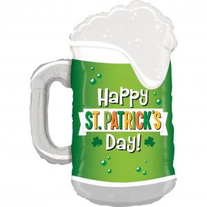 Folieballong - St. Patricks Day Green Beer Shape