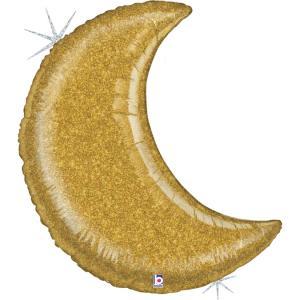 Folieballong - Glitter Moon Gold 107 cm