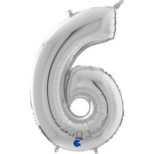 Ballongsiffra - Sex Silver 66 cm