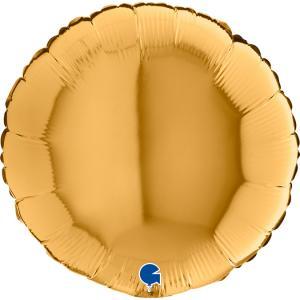 Rund guldballong
