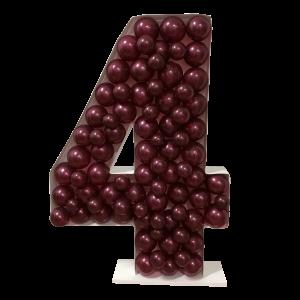 Ballongform - Nummer 4 - 120 cm