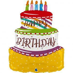 Folieballong - Birthday Cake Shape