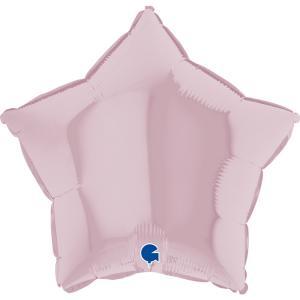 Folieballong - Stjärna Pastellrosa 45 cm