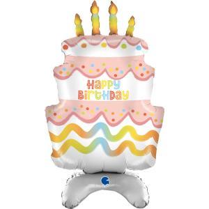 Folieballong - Birthday Standup Cake Shape