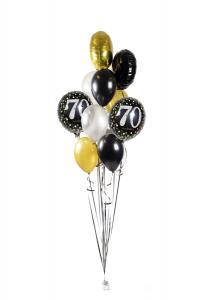 Ballongbukett - Happy Birthday Sparkling 70