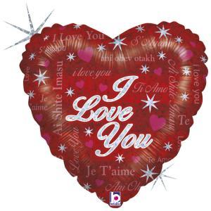 Folieballong - Sparkling Love 45 cm