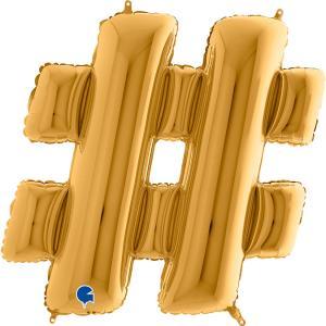 Hashtag-ballong Guld
