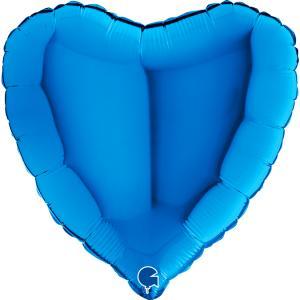 Blått ballonghjärta
