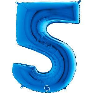 Sifferballong Fem Blå