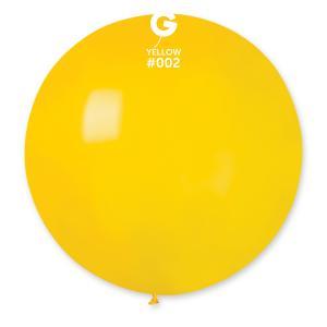 Latexballong - Gul Rund 80 cm