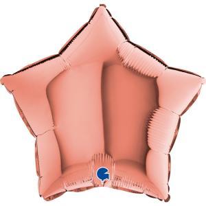 Folieballong - Stjärna Rose Gold 46 cm