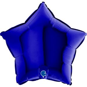 Folieballong - Stjärna Blue Capri 45 cm