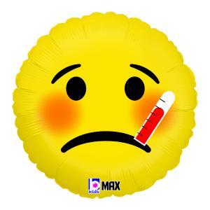 Folieballong - Emoji Sick 45 cm
